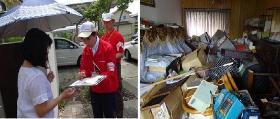 被災地でCO・OP共済異常災害見舞金の手続きのため訪問したご家庭のようす