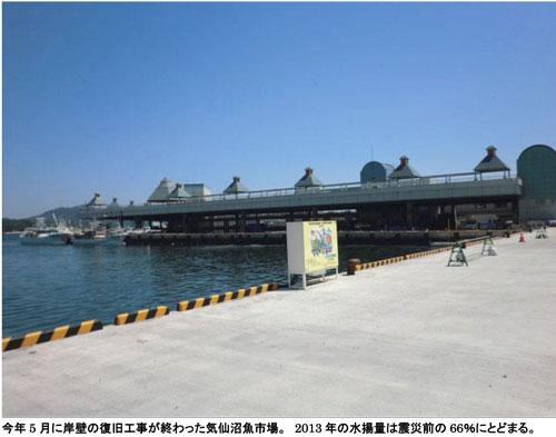 今年5月に岸壁の復旧工事の終わった気仙沼魚市場