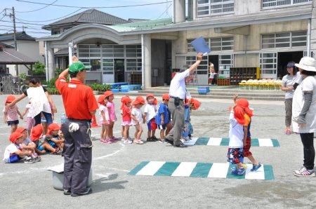 森之腰幼稚園交通安全教室