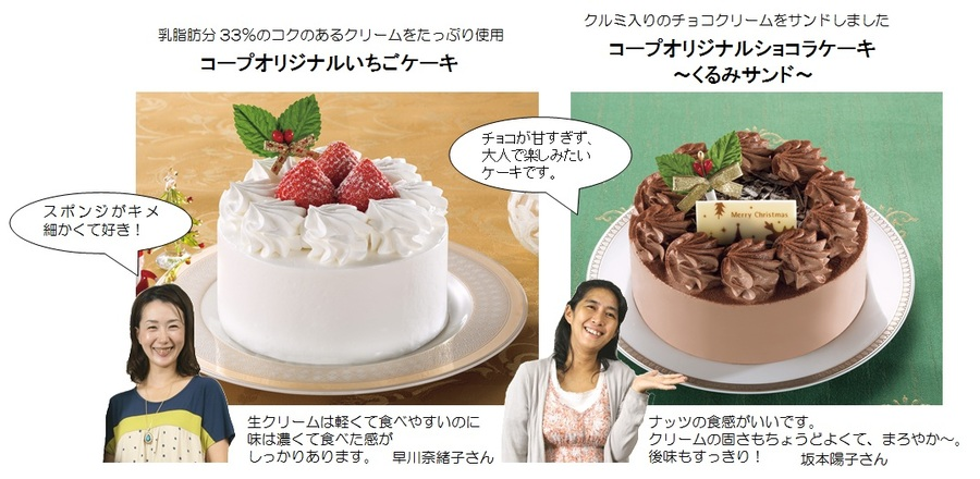 クリスマス用ケーキ2種