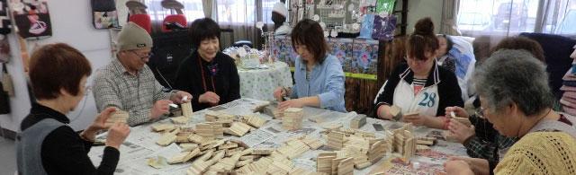 手工芸品づくりやさまざまな行事に利用されているひまわり集会所