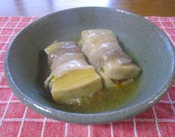 こうや豆腐の茶美豚ロール