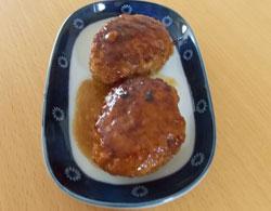 茶美豚を使った豆腐ハンバーグ