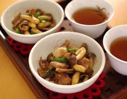 茶美豚の甘麹炒り