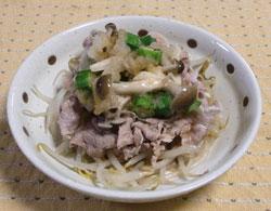 豚バラのネバネバ温サラダ