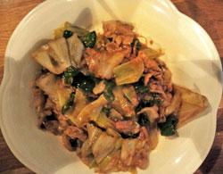 茶美豚の和風回鍋肉