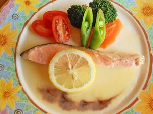 銀鮭ソテー レモンとバルサミコのソース