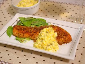 銀鮭のパン粉焼き&タルタルソース