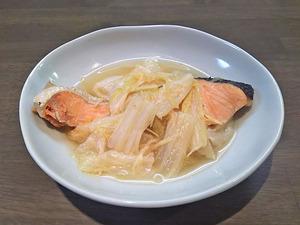 鍋にお任せ・銀鮭と白菜のショウガたっぷり煮