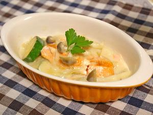 銀鮭のクリーム煮