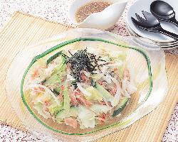 野菜とシーサラダの和風ドレッシング