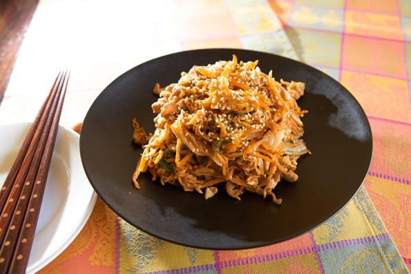 豚肉と切り干し大根のキムチ炒め