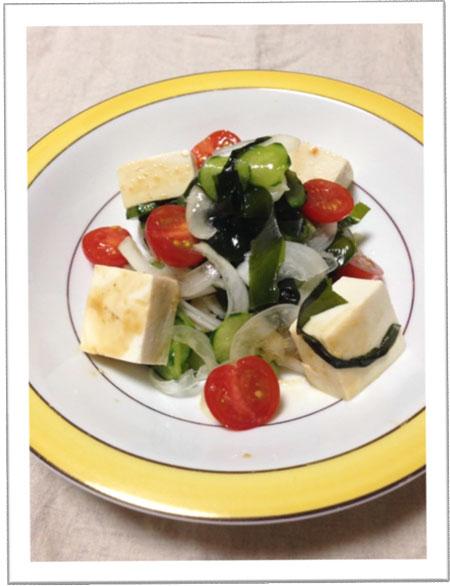 わかめと新玉ねぎのサラダ