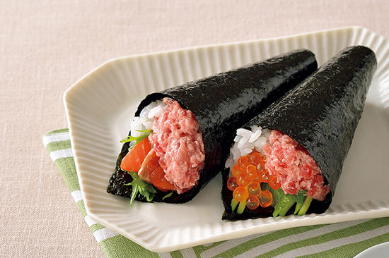 まぐろの手巻き寿司