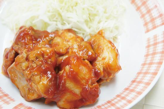 鶏もも肉のケチャップ煮