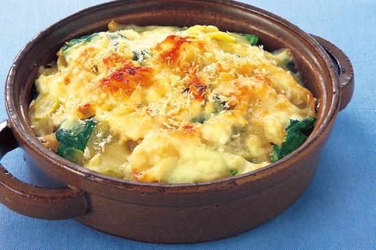 鶏肉と野菜の味噌クリームグラタン