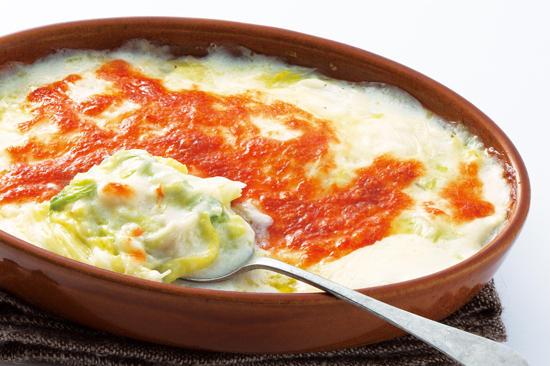 白菜のクリームグラタン