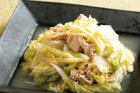 白菜と鮭の炒め煮