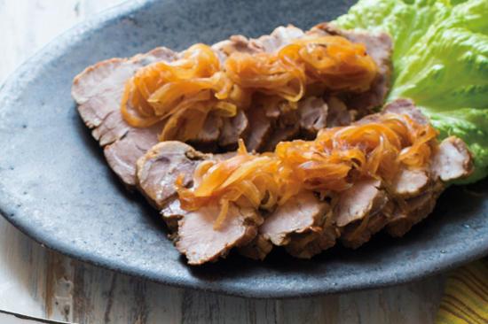 豚ブロック肉の酢じょうゆ漬け
