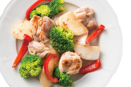 彩り野菜とチキンのグリル