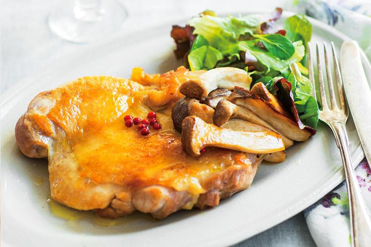 エリンギオイルで鶏モモ肉のカリカリ焼き
