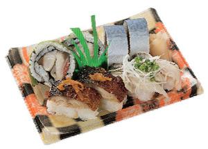 ユーコープの「人気のさば寿司盛合わせ」