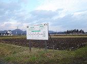耕起された田圃